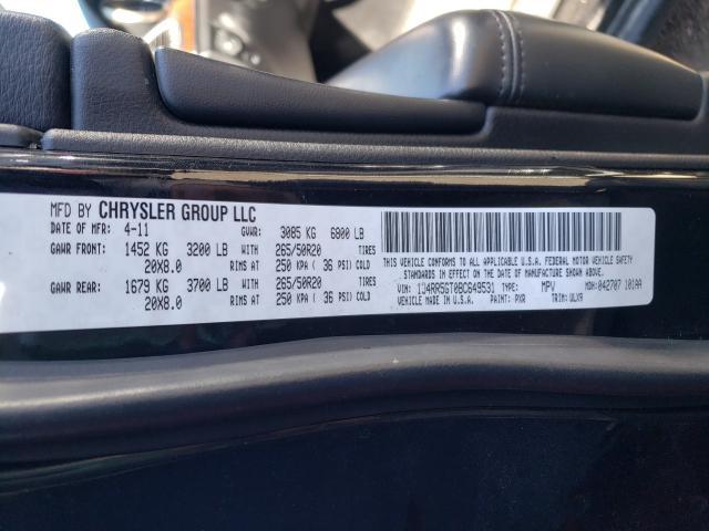 2011 JEEP GRAND CHER 1J4RR5GT0BC649531