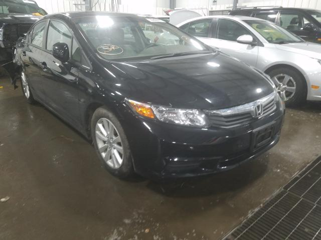 Salvage cars for sale from Copart Ham Lake, MN: 2012 Honda Civic EX