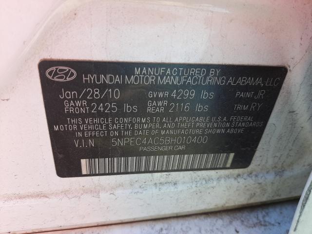 2011 HYUNDAI SONATA SE 5NPEC4AC5BH010400