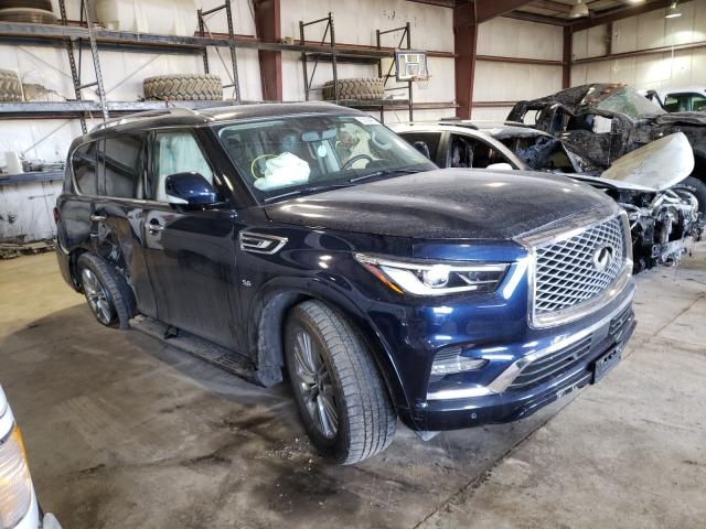 Salvage cars for sale from Copart Eldridge, IA: 2019 Infiniti QX80 Luxe