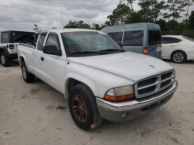 Salvage cars for sale from Copart Fort Pierce, FL: 2004 Dodge Dakota SLT
