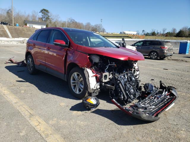 Salvage cars for sale from Copart Concord, NC: 2020 Ford Edge SEL