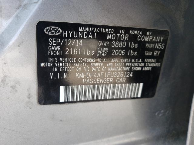 2015 HYUNDAI ELANTRA SE KMHDH4AE1FU326124