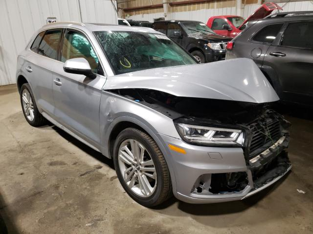 Salvage cars for sale from Copart Anchorage, AK: 2019 Audi Q5 Premium