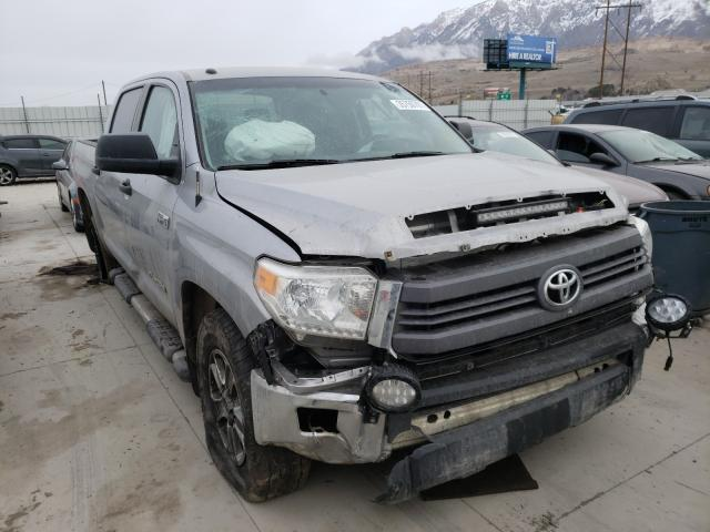 Salvage cars for sale from Copart Farr West, UT: 2014 Toyota Tundra CRE