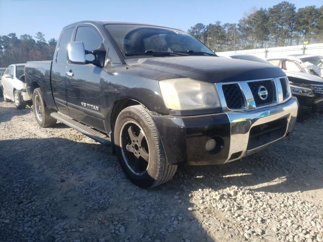 Salvage cars for sale from Copart Ellenwood, GA: 2005 Nissan Titan XE
