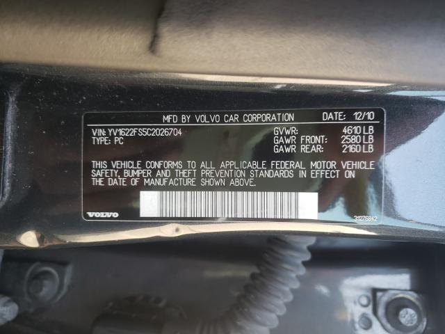 2012 Volvo S60   Vin: YV1622FS5C2026704