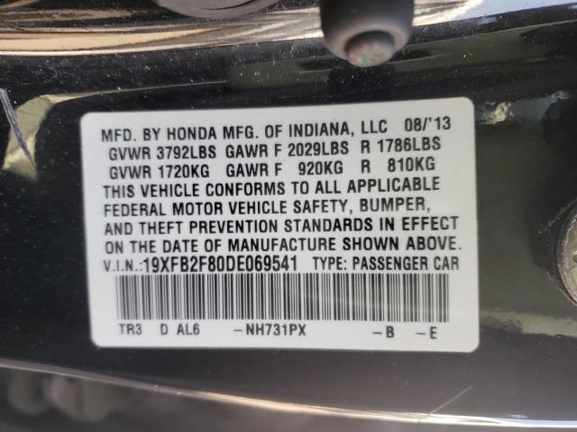2013 HONDA CIVIC EX 19XFB2F80DE069541