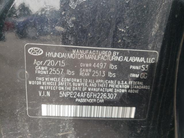 2015 HYUNDAI SONATA SE 5NPE24AF6FH226307