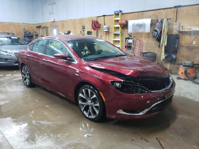 Salvage cars for sale from Copart Kincheloe, MI: 2015 Chrysler 200 C