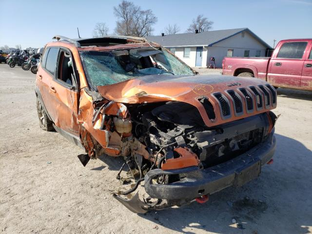 Salvage cars for sale from Copart Sikeston, MO: 2015 Jeep Cherokee T