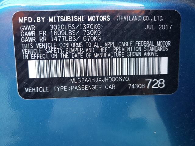 2018 MITSUBISHI MIRAGE SE ML32A4HJXJH000670