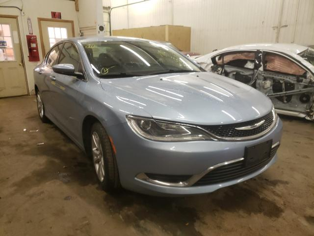 Chrysler salvage cars for sale: 2015 Chrysler 200 Limited