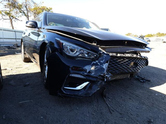 Salvage cars for sale at Brookhaven, NY auction: 2018 Infiniti Q50 Luxe