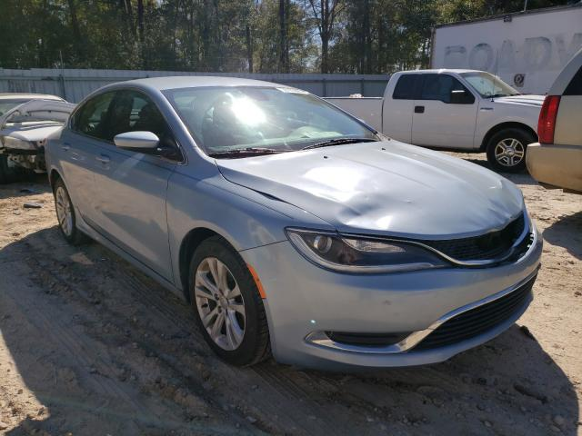 Salvage cars for sale from Copart Midway, FL: 2015 Chrysler 200 Limited