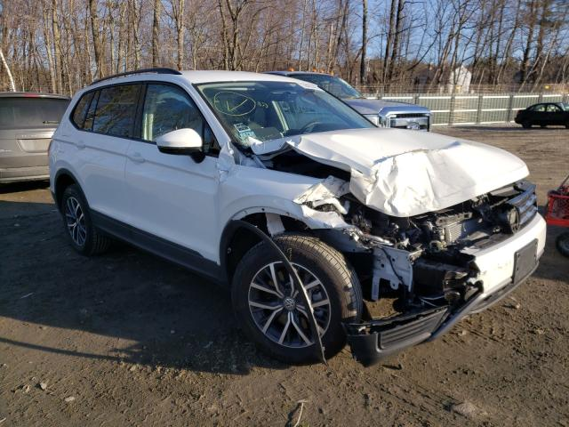 Salvage cars for sale from Copart Candia, NH: 2021 Volkswagen Tiguan S