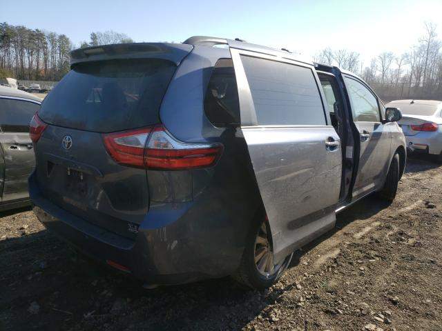 2017 TOYOTA SIENNA XLE - Right Rear View