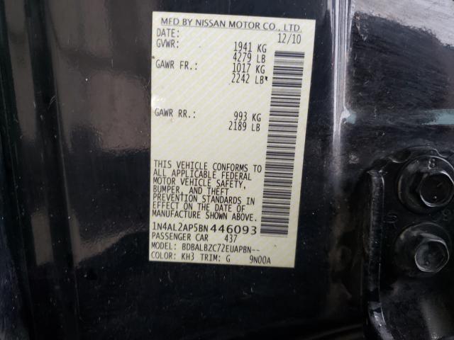 2011 NISSAN ALTIMA BAS 1N4AL2AP5BN446093