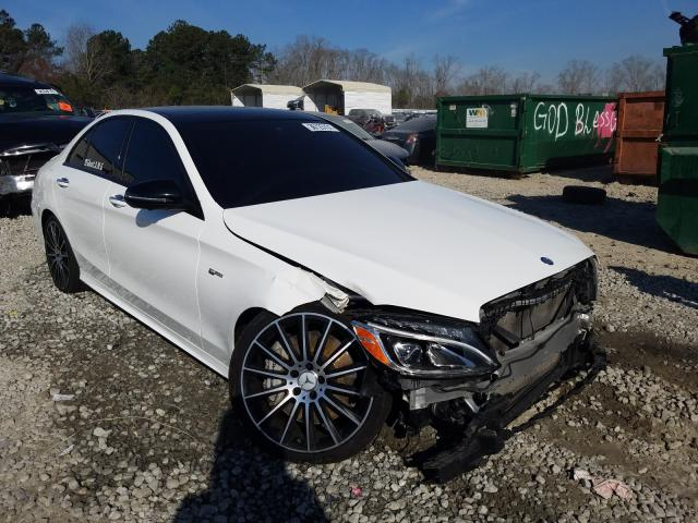 Salvage cars for sale from Copart Ellenwood, GA: 2017 Mercedes-Benz C 43 4matic