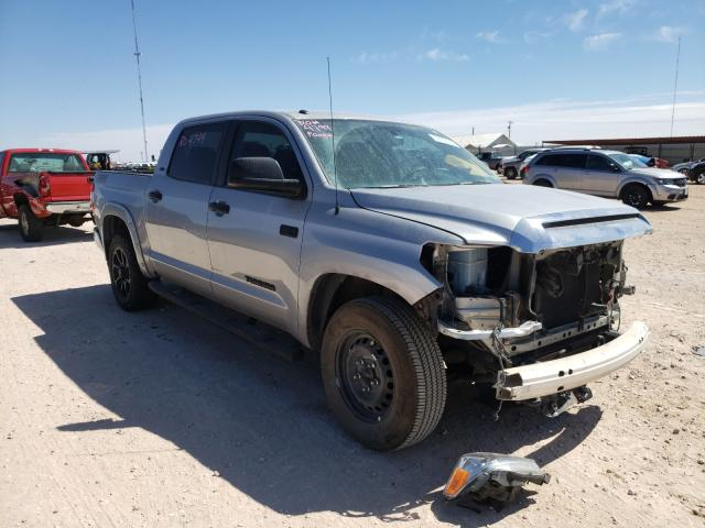 Salvage cars for sale from Copart Andrews, TX: 2017 Toyota Tundra CRE