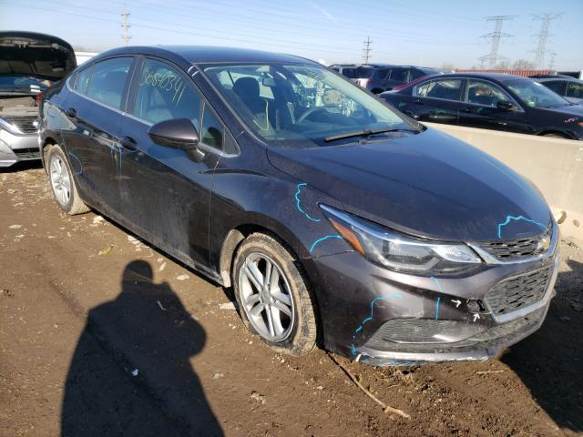 Salvage cars for sale from Copart Elgin, IL: 2017 Chevrolet Cruze LT