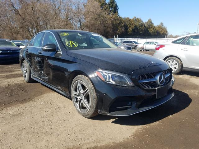 Salvage cars for sale from Copart London, ON: 2019 Mercedes-Benz C 300 4matic