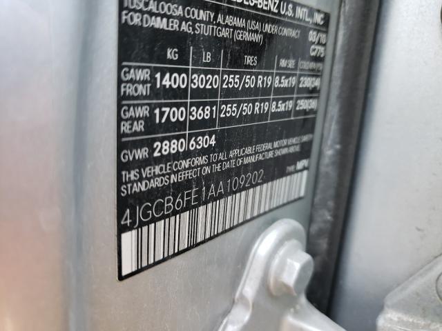 2010 MERCEDES-BENZ R 350 4MAT 4JGCB6FE1AA109202