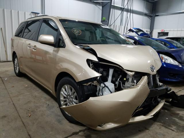 Salvage cars for sale from Copart Ham Lake, MN: 2012 Toyota Sienna XLE