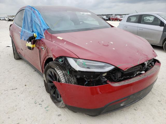 Salvage cars for sale from Copart New Braunfels, TX: 2018 Tesla Model X
