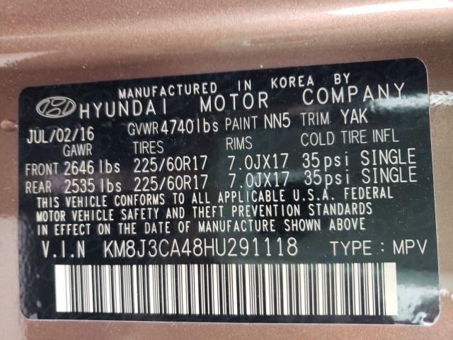 2017 HYUNDAI TUCSON LIMITED - 10