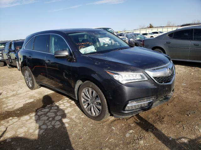 Salvage cars for sale from Copart Kansas City, KS: 2016 Acura MDX Techno