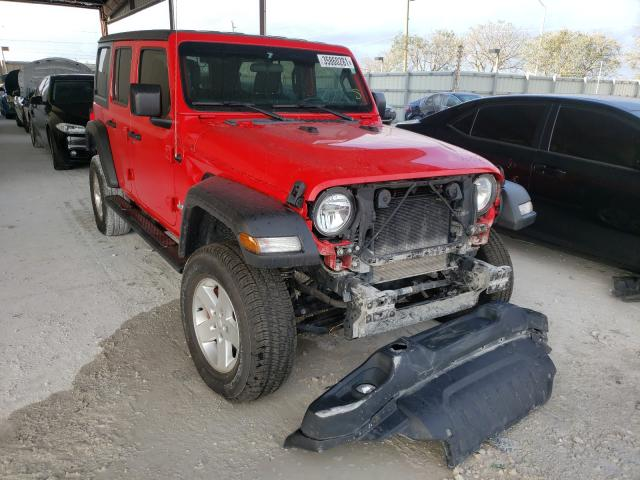 Salvage cars for sale from Copart Homestead, FL: 2019 Jeep Wrangler U