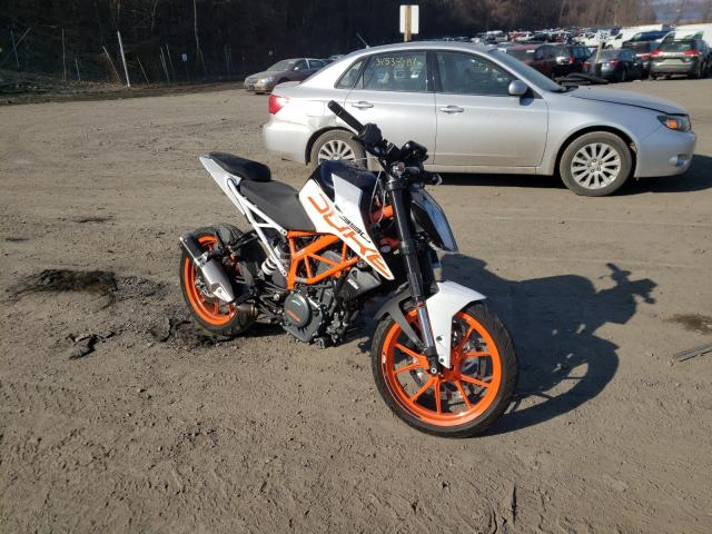 KTM salvage cars for sale: 2017 KTM Duke 390