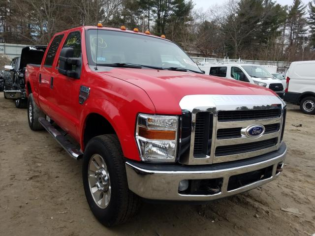 Salvage cars for sale from Copart Mendon, MA: 2008 Ford F350 SRW S