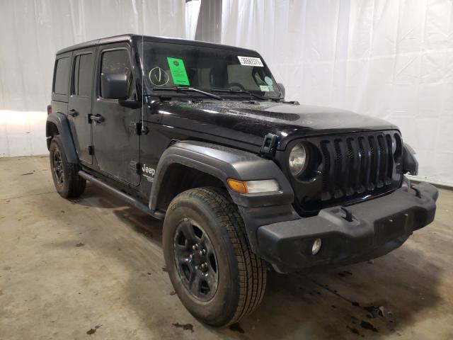 Salvage cars for sale from Copart Central Square, NY: 2020 Jeep Wrangler U