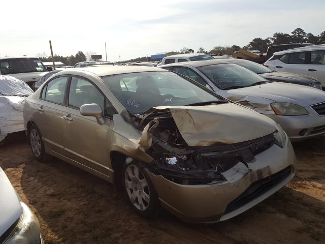 Salvage cars for sale from Copart Newton, AL: 2008 Honda Civic LX