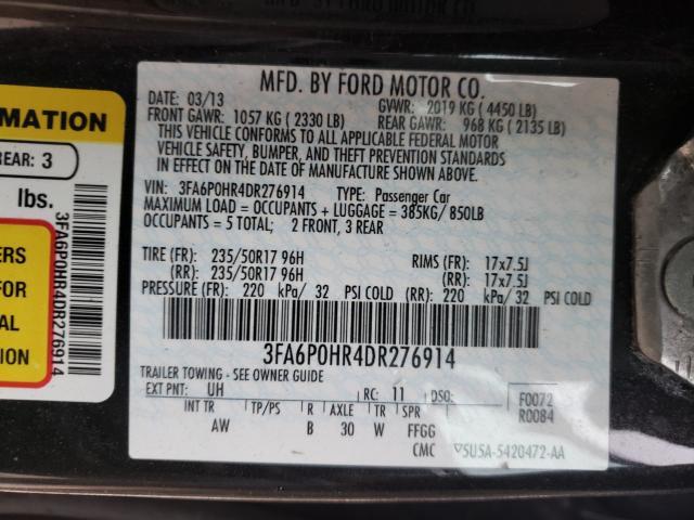 2013 FORD FUSION SE 3FA6P0HR4DR276914