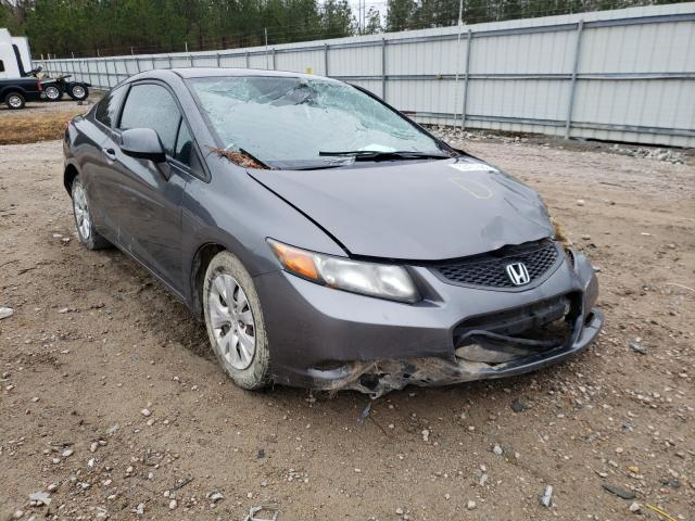 Salvage cars for sale from Copart Charles City, VA: 2012 Honda Civic LX