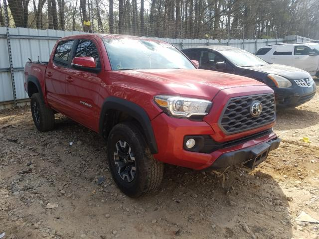Salvage cars for sale from Copart Austell, GA: 2020 Toyota Tacoma DOU