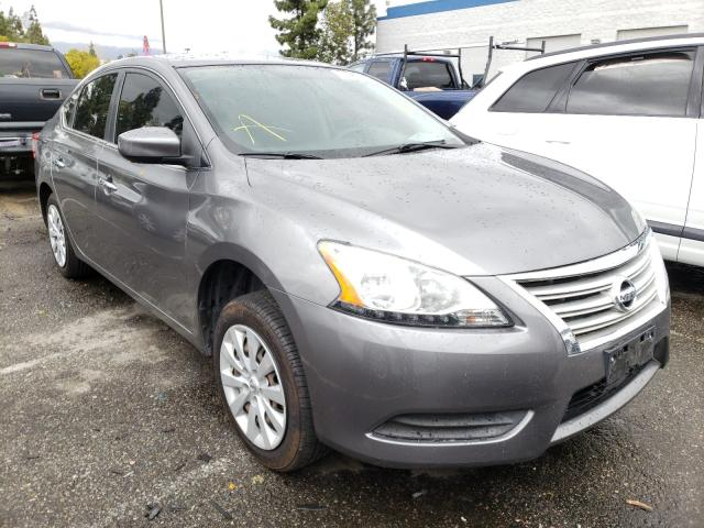 Salvage cars for sale from Copart Rancho Cucamonga, CA: 2015 Nissan Sentra S