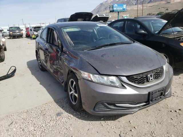 Salvage cars for sale from Copart Farr West, UT: 2015 Honda Civic SE