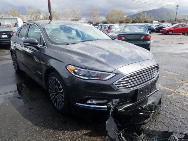 Salvage cars for sale from Copart Colton, CA: 2018 Ford Fusion Titanium