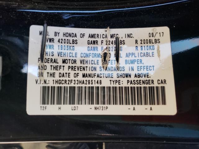 2017 Honda ACCORD | Vin: 1HGCR2F33HA295148
