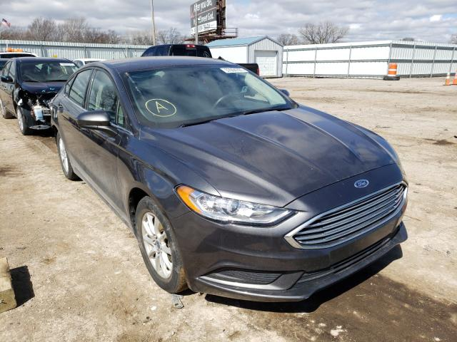 Salvage cars for sale from Copart Wichita, KS: 2017 Ford Fusion S