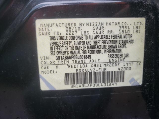 2011 NISSAN SENTRA 2.0 3N1AB6AP0BL601849