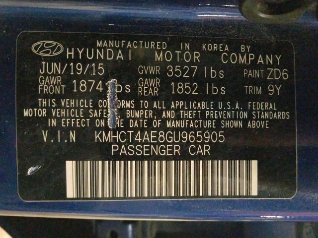 2016 HYUNDAI ACCENT SE KMHCT4AE8GU965905
