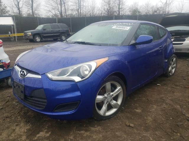 2012 HYUNDAI VELOSTER - Left Front View