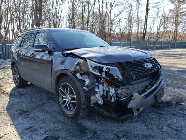 Salvage cars for sale from Copart Candia, NH: 2018 Ford Explorer S