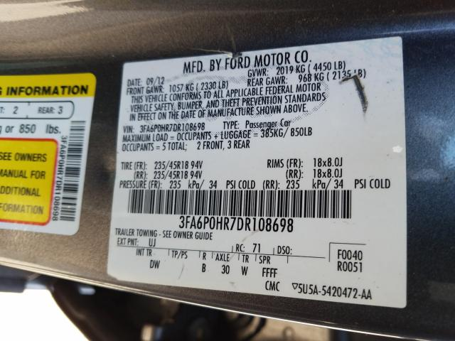 2013 FORD FUSION SE - Other View