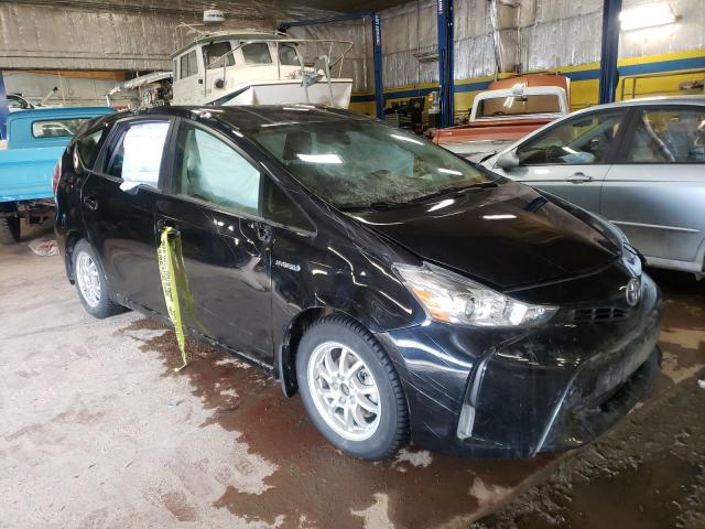 Salvage cars for sale from Copart Rocky View County, AB: 2017 Toyota Prius V